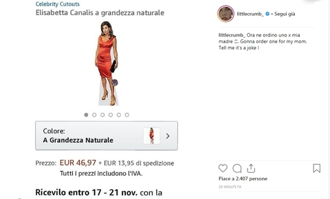 Elisabetta Canalis in vendita su Amazon a 47 euro…