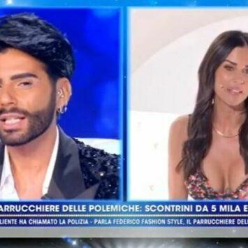"""Federico Fashion Style vs Antonella Mosetti a """"Live – Non è la d'Urso"""""""